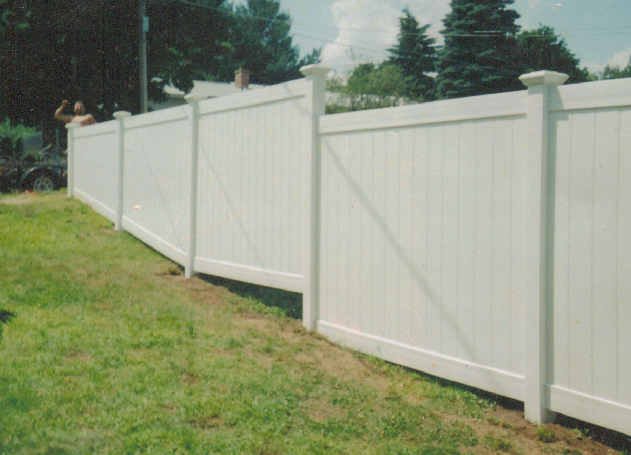 Solid Privacy Vinyl Fences Massachusetts Fence